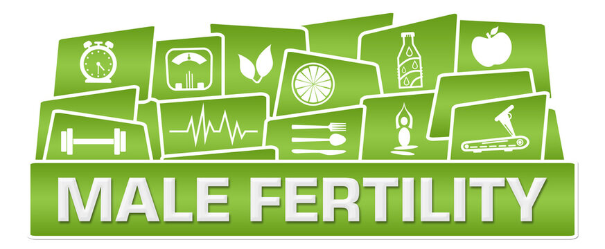 Male Fertility Green Health Symbols On Top Triangles