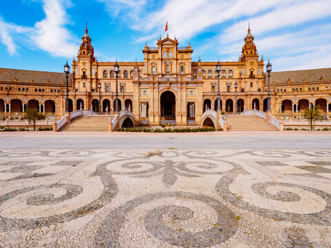 Plaza de Espana de Sevilla (Spain Square), Seville, Andalusia, Spain