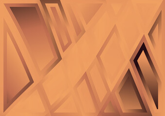 Geometric Abstract Brown Background Vector Illustration Wall mural