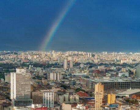Rainbow over Sao Paulo City - Sao Paulo, Brazil