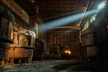 Inside of an abandoned factory