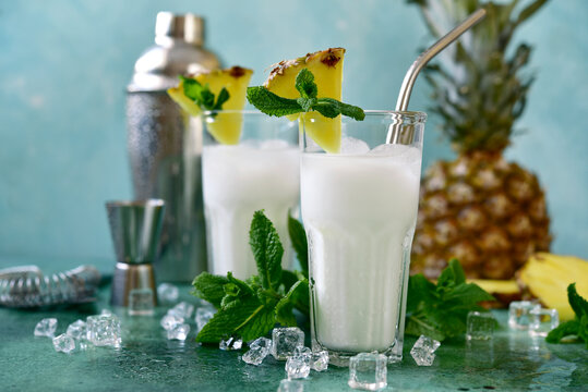 Pina colada - coconut and pineapple cocktail with cream.