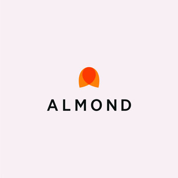 Almond nut logo vector design