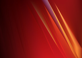 Red and Orange Shiny Straight Lines Abstract Background Wall mural