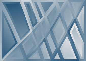 Abstract Blue and Grey Geometric Background Wall mural