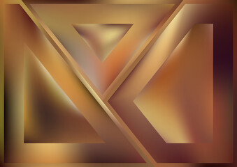Abstract Geometric Brown Background Wall mural