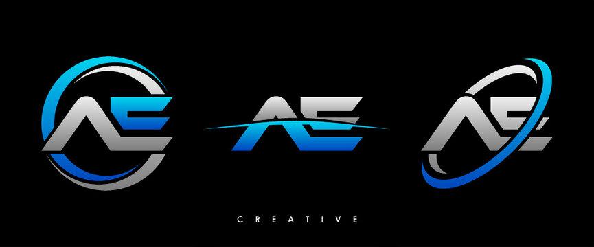 AE Letter Initial Logo Design Template Vector Illustration