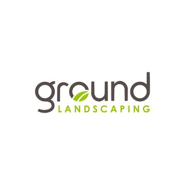 landscaping logo with ground concept