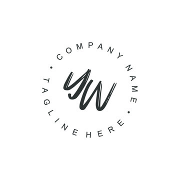 YW Logo Initial Design Concept Typography