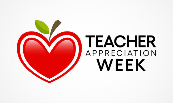 Teacher appreciation week is observed each year in May. The day provides the occasion to celebrate the teaching profession worldwide, take stock of achievements. Vector illustration.