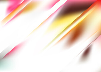 Pink Yellow and White Diagonal Shiny Background Vector Illustration Wall mural