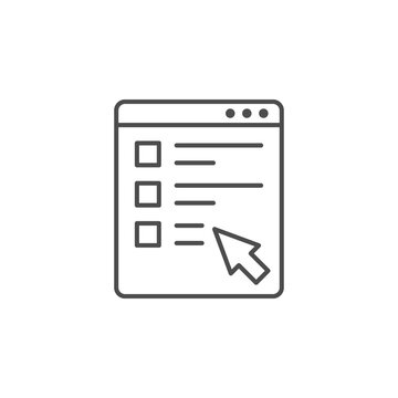 Online form line outline icon