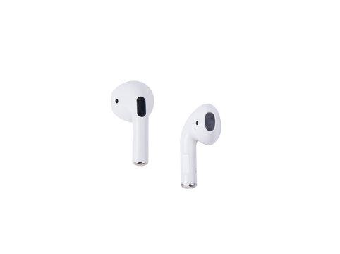 Wireless bluetooth headphones isolated on white background