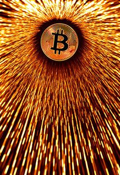 Design with a Bitcoin coin