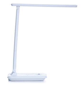 Desktop LED lamp on white background isolation