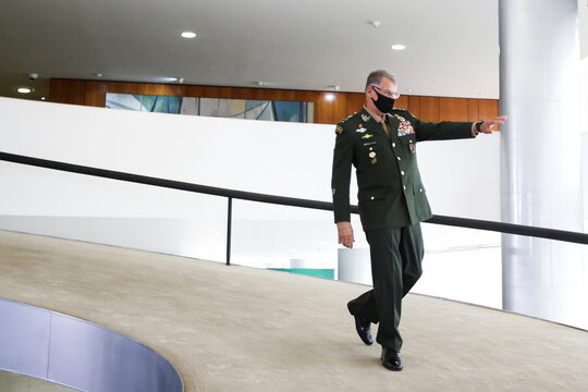 Promotion ceremony for generals of the Brazilian armed forces, in Brasilia