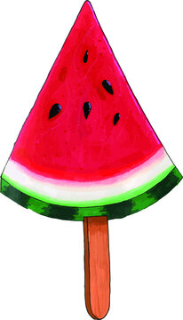 Hand draw summer fruits.Clipart berries,fruits.Sketches watermelon