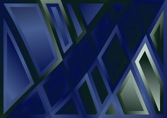 Blue and Green Abstract Geometric Background Vector Eps Wall mural