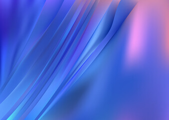 Pink and Blue Diagonal Shiny Lines Background Wall mural