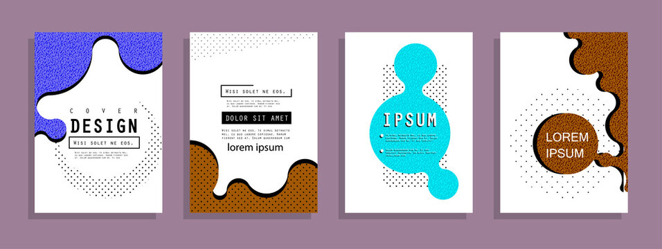 Template brochures, flyers, business presentations. Modern flat line style, layout in A4 size.