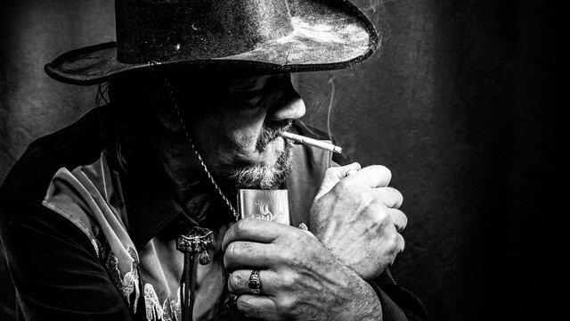 cowboy smokes