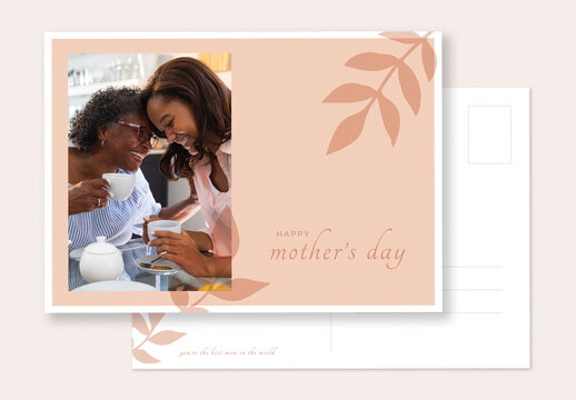 Flower Petal Postcard Layout for Mother's Day