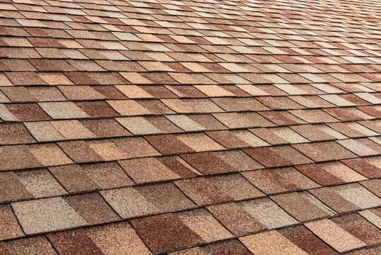 Light brown shingle roof background with texture