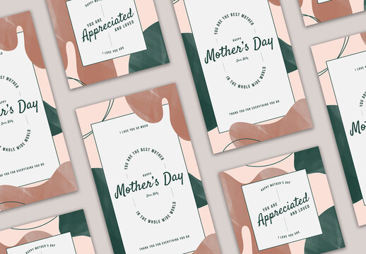 Mother's Day Hand-Drawn Social Media Layout