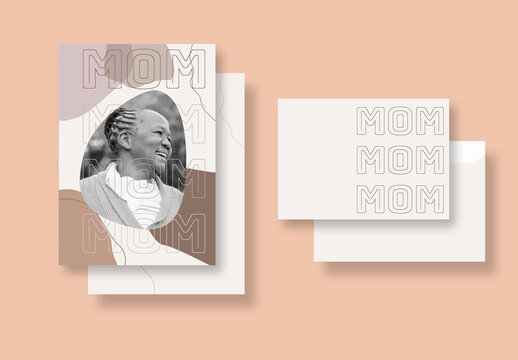 Organic and Natural Card Layout for Mom
