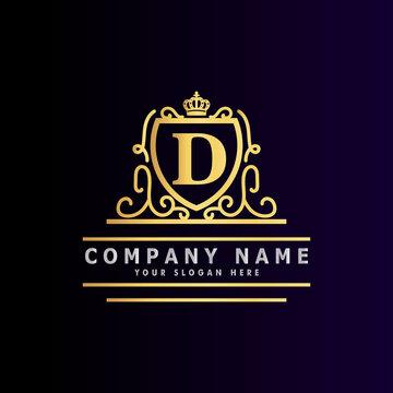 Golden luxury logo design