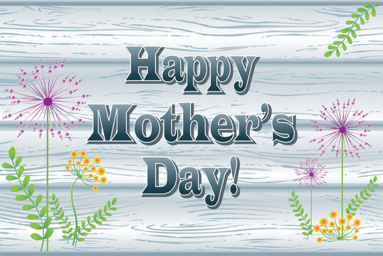 Happy Mother's Day Wooden Sign