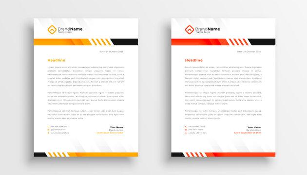 professional business letterhead template design