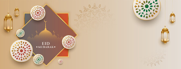 Obraz eid ul fitr eid mubarak festival banner design - fototapety do salonu