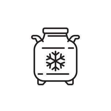 cryobank, storage tank, cryo bank line icon