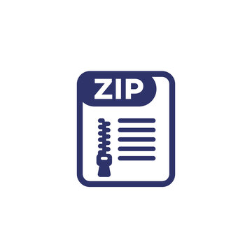 zip file archive icon on white