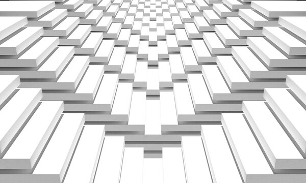 cube white abstract 3d background, rendering