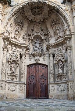 church entrance in basque country