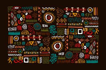 Fototapeta African tribal art traditional symbol set isolated obraz