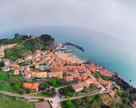 View of Lastres, one of the most beautiful villages of Cantabrian coast