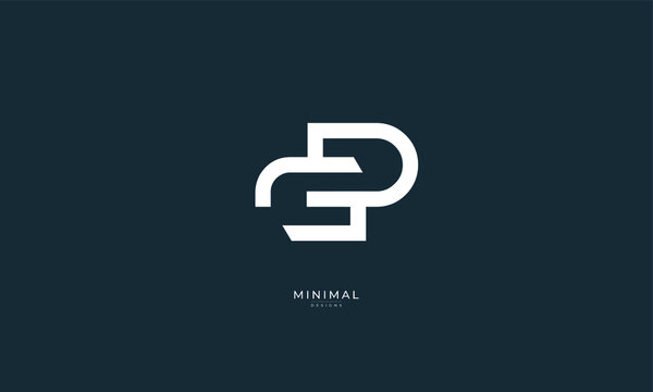 Alphabet letter icon logo GD or DG