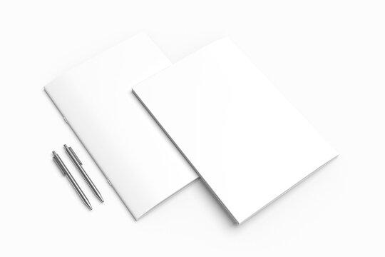 Blank Brochure Bifold Mockup
