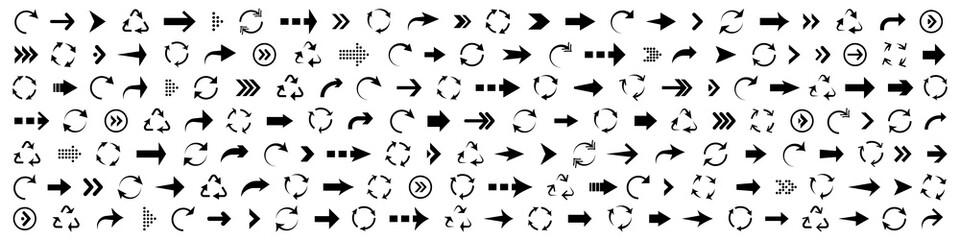 Fototapeta Big set of black arrows. Vector arrow collections obraz