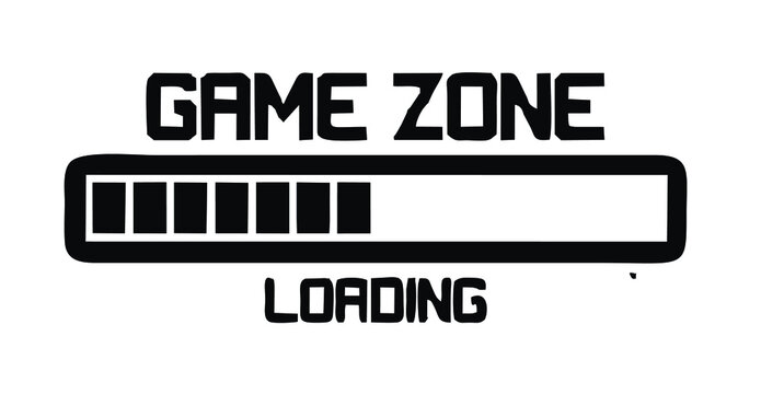 game zone loading writing on a white background