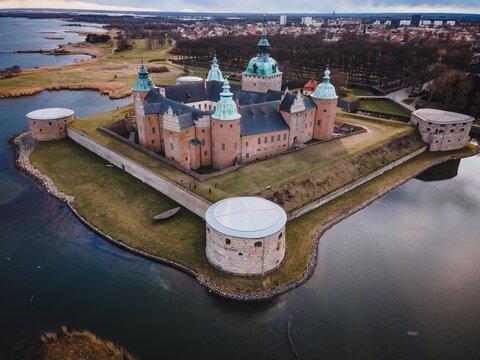 Kalmar Castle (Slott) as seen in Småland, Sweden