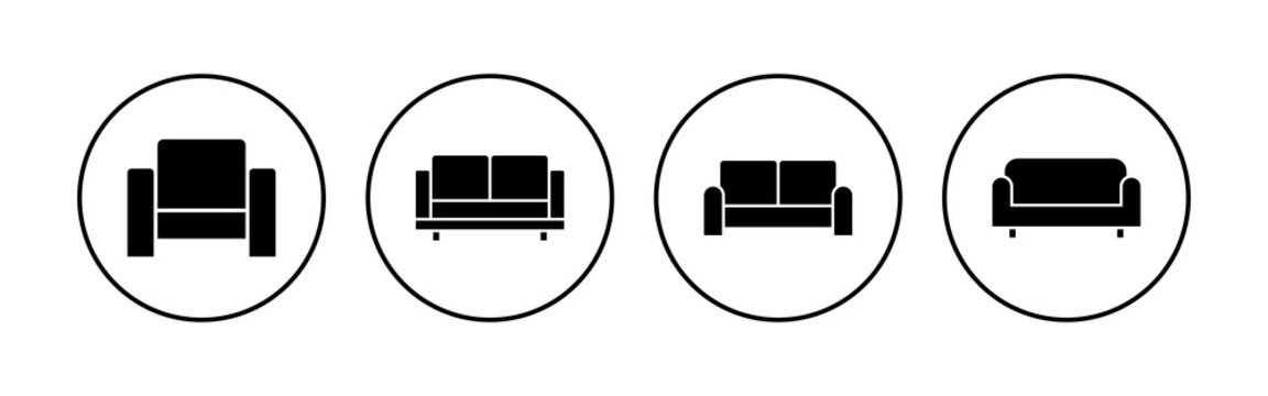 Sofa icon set. sofa icon illustration
