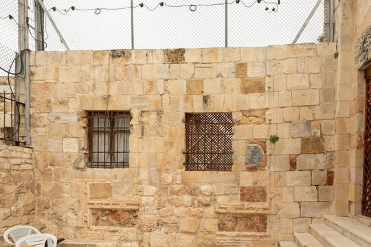 The inner  school courtyard of the Madrasah on the Temple Mount in the Old Town of Jerusalem in Israel
