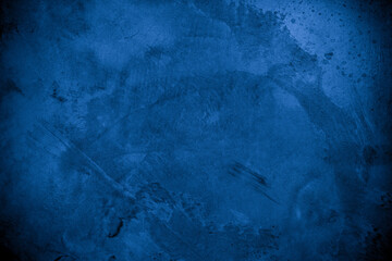 Old wall pattern texture cement blue dark abstract  blue color design are light with black gradient...