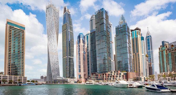 Amazing cityscape of Dubai, UAE
