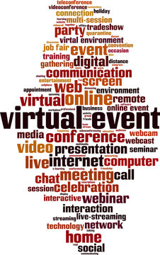 Virtual event word cloud