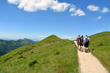 Obraz Tatry Zachodnie, Tatrzański Park Narodowy, szlaki turystyczne, góry w Polsce, - fototapety do salonu